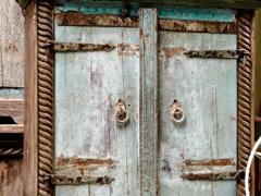 Atmosphère déco Buffet massif turquoise Inde