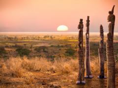 Atmosphère déco Statues en bois Afrique Asie