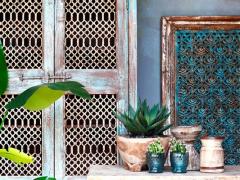Atmosphère déco turquoise bois couleur vieille authentique
