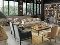 Atmosphère déco Dialma Brown canapé table basse bibliothèque tapis