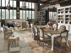 Atmosphère déco Dialma Brown table bibliothèque chaise buffet tapis fauteuil