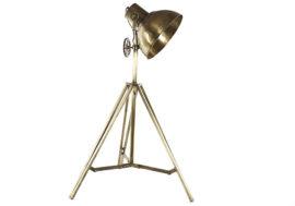 Lampadaire métal doré